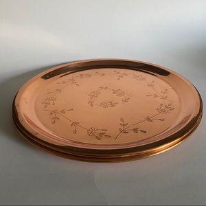 Pair of vintage copper plates